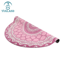 yugland anti slip suede surface square travel light and thin yoga mat with strap
