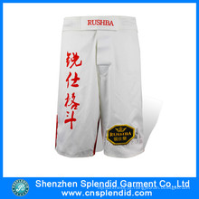 China Garment fabricante baratos de alta qualidade personalizado homens algodão MMA curto