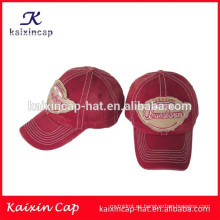 sombreros de gorra de béisbol al por mayor / bordado 3D gorra de algodón de alta calidad / gorro de apliques baratos con su diseño
