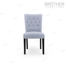 Amortiguador de tela respaldo alto moderno desgin terciopelo sillas de comedor con botón
