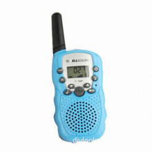 1.0-inch LCD 5km Walkie Talkie, Made of Plastic Material, 0.5W Output Power