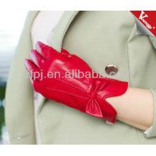 2013 guantes forrados con cachemira de cuero