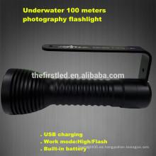 Nuevo equipo de película de vídeo, equipo de buceo impermeable 100m, fotografía luz de vídeo