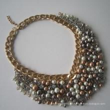 Perle Schmuck Langding Multi steht Legierung Halskette