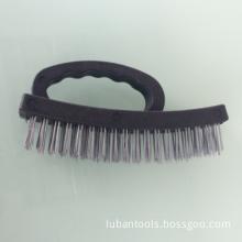 "6.5"" Heavy Duty Grip Plastic Handle Wire Brush"