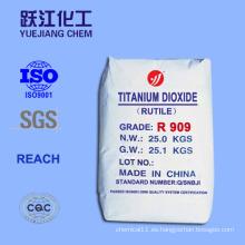 Dióxido de Titanio Rutilo R909 Blanco TiO2 Colorantes