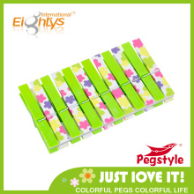 2014 Fashion double color printing plastic clothespin