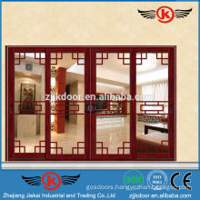 JK-AW9107 classic elegant interior aluminum sliding folding doors prices