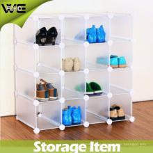 Gabinete de almacenamiento de exhibición moderno del organizador del zapato plástico de la sala de estar