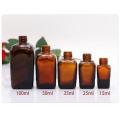 Quadratisches braunes Glas ätherisches Öl Flasche mit Pipette (NDB06)