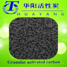 Coal based columnar activated carbon filter gas mask