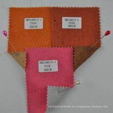 tejido de cachemira tejido doble cara naranja 100% para mujer