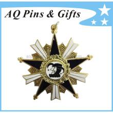 Metal, lembrança, polícia, emblema, diamante, broche, (badge-020)