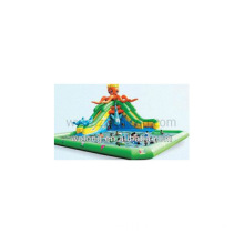 2014 durable inflatable water slide with pool