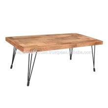 Industrial Wood and Iron Legs Dining Table