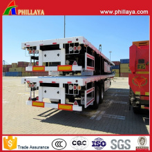 Plattform-Behälter-Transport-Flachbett-Sattelanhänger 20FT 40FT