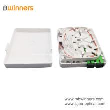 Zócalo montado en la pared de la caja de terminales del zócalo de la fibra óptica del ABS de 2 puertos