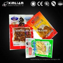 Diseño de impresión / bolsa de vacío de plástico de tamaño / plástico