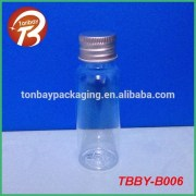 30ml skin care PET clear plastic bottles with aluminum capsTBBY-B006