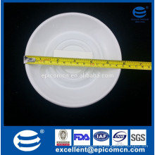 """6 """"plato de cerámica blanca porcelana pequeño titular"""