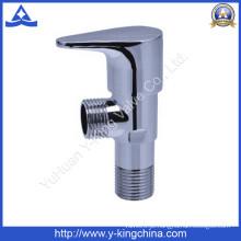 Válvula de ângulo de latão cromado e polido para banheiro (YD-5027)