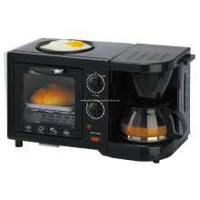 Breakfast Maker with Toast Oven Coffee Maker and Pan