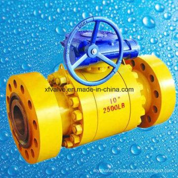 ANSI 1500lb 2500lb Кованая сталь A105 Фланцевый концевой шаровой клапан