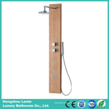Wall Bath Bamboo Shower Set with Hand-Held Shower (LT-M207)