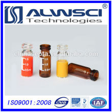 Made in China 2ml clear glass snap hplc vial with label