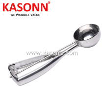 Stainless Steel Cookie Dough Scoop with Mirror Finish