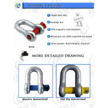 Grilhões Chain do Pin do parafuso do aço de liga dos EU G210