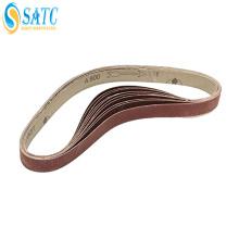 narrow abrasive sanding belt