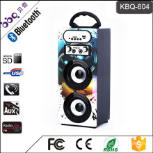 Music Creative led light bluetooth portable karaoke speaker box