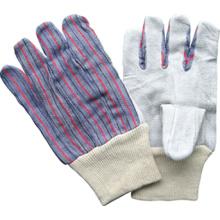 Cow Split Leather Knit Wrist Work Glove