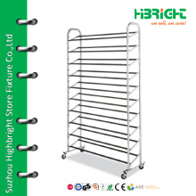 Shoe shore display racks metal shoe rack
