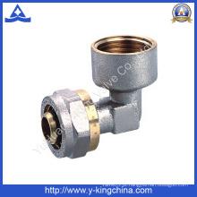 Latão compressão cotovelo montagem para tubo de compressor (yd-6058)