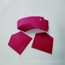 Sobre de papel de tarjeta de regalo con logotipo de pedido personalizado