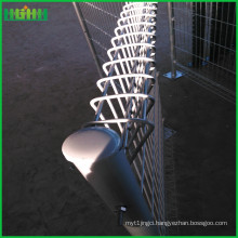 Black power coated BRC fence from factory