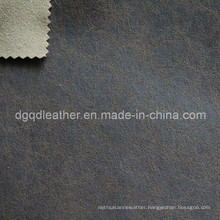 High Quality Breathable PU Furniture Leather (QDL-FB0046)