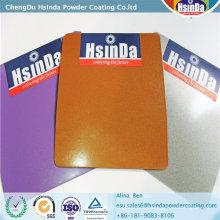 Revêtement de poudre de polyester époxyde à effet métallique