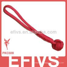 Llavero del puño del mono del paracord del rojo 550
