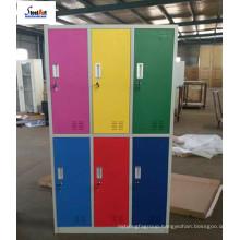 China furniture KD 6 door storage wardrobe color metal used school lockers for sale