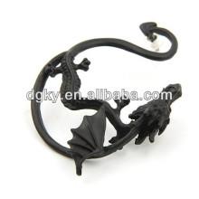Piercing à l'oreille de dragon vintage plaqué noir