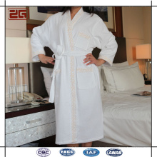 Super Quality Custom Men or Women Used Embroidery Cotton Hotel Waffle Bathrobe