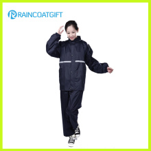 Waterproof Women′s Polyester Rainsuit Rvc-105