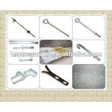 accesorios de hardware de línea de polo de montaje de energía eléctrica varilla de acero corrugado barra de barra de acero de forma especial gancho de barra de acero