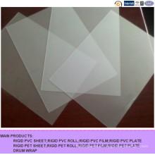 Folha rígida transparente do PVC do PVC geado para imprimir