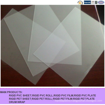 Frosted PVC Transparent Rigid PVC Sheet for Printing
