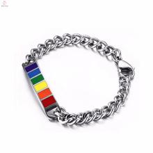 Оптом подарки Радуга гей-прайда браслеты нержавеющей стали для женщин