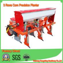 Tractor de siembra de precisión de maíz de tres filas implementa la venta directa de grasa